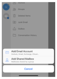 Image: how to add a shared mailbox