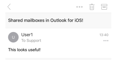 Image: shared mailbox in action