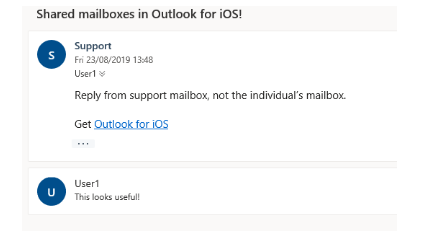 Image: Shared mailbox reply