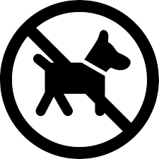 Image: Home working No dogs sign