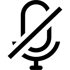 Image: Home working mute icon