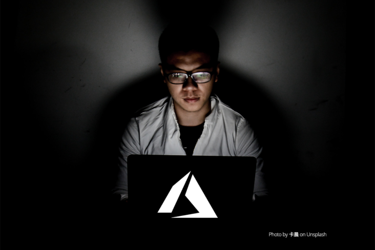 Image: Azure identity governance laptop user in the dark