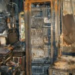 Image: Burnt out server room