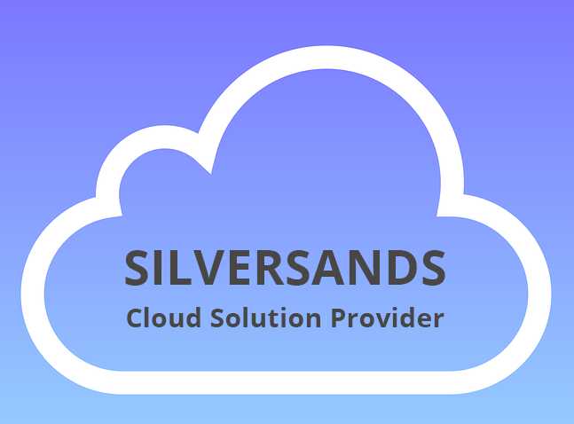 Image: Cloud graphic with Silversands Cloud Solution Provider
