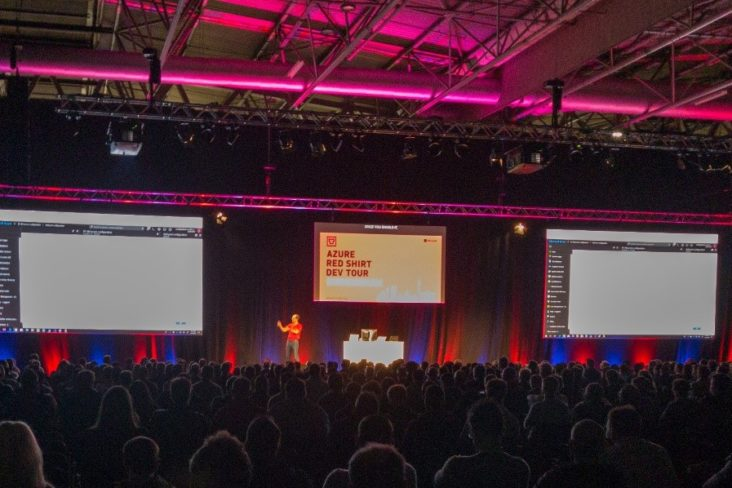 Image: Azure Red Shirt Dev Tour Stage Set Digital Transformation