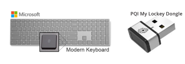 Image: Modern Keyboard & Lockey Dongle
