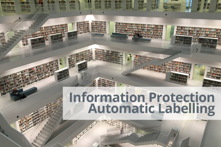 Image: Information Protection modern library interior