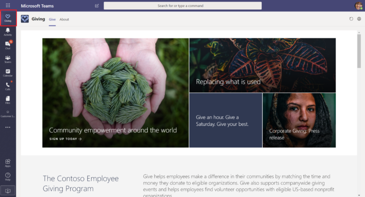 Image: Microsoft Teams pinned link to SharePoint site