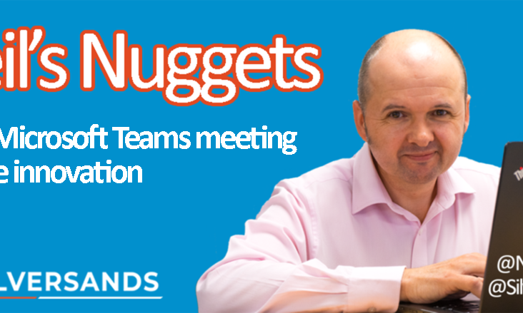 Image: Microsoft Teams meeting features Neil's Nuggets #15