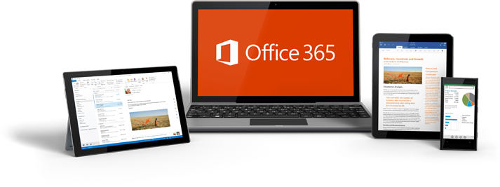 Image: Office 365 devices line up