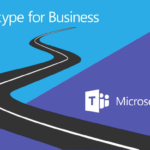 Image: Skype for Business and Teams logos with twisty road image to depict roadmap