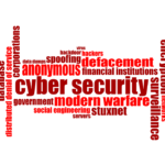 Image of security related word montage in shades of red