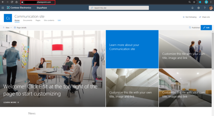 Image: SharePoint Communication Site image
