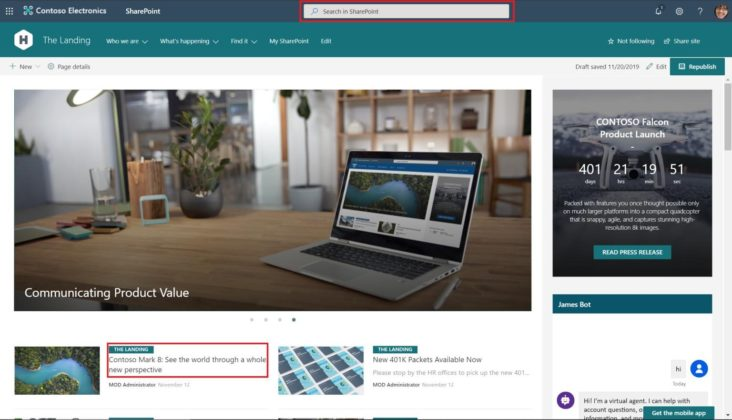 Image: SharePoint Home site image