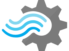 Image: Serverless Computing Stream analytics icon