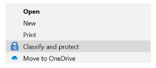 Image: Azure Information Protection classify and protect