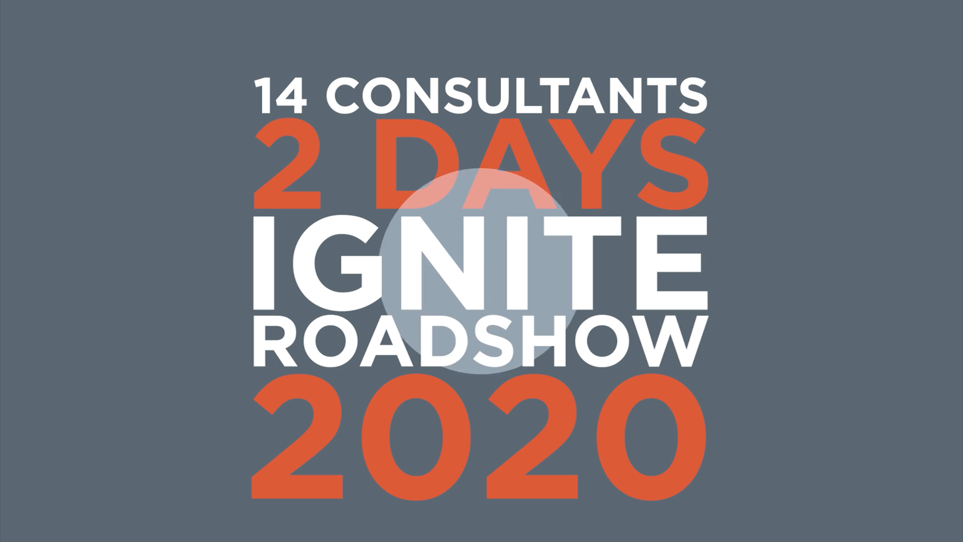 Silversands @ Ignite Roadshow 2020