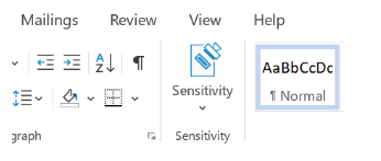 Image: Azure Information Protection sensitivity