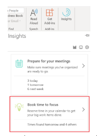 Image: Stay focused setting in calendar