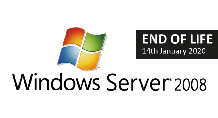 Image: Windows Server 2008 logo plus EOL banner